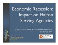 Economic Recession - Community Development Halton