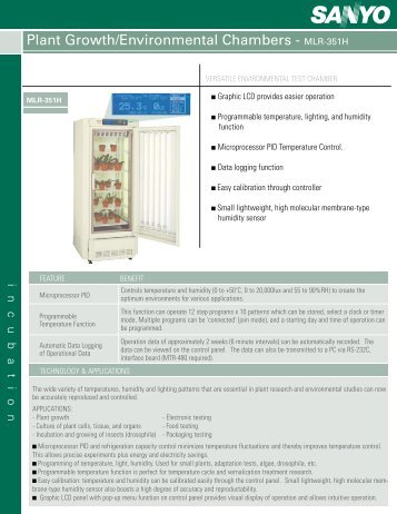 Plant Growth/Environmental Chambers - MLR-351H - Biomedical