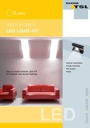 High Power LED Light-Set [.PDF-Datei] - Logo ESCHA TSL GmbH