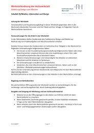 Werkstattordnung Holz - Fakultät III