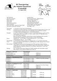 40. Ponysporttag der Sektion Ostschweiz Frauenfeld - SVPK
