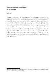 Adaptations of Beowulf in modern film1 Burgert A Senekal Abstract ...