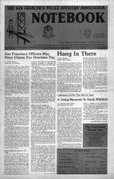 June 1991 - San Francisco Police Officers Association