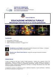 educazione interculturale - VIS - Volontariato Internazionale per lo ...