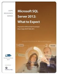 NEW! — Microsoft SQL Server 2012: What to Expect - ASPE