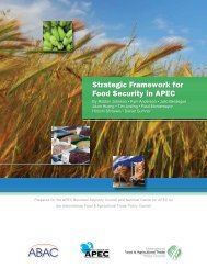 Strategic Framework for Food Security in APEC - International Food ...