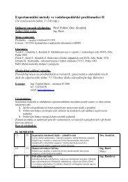 Harmonogram přednášek a cvičení EMV II