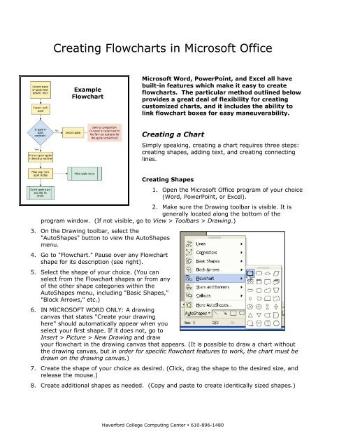Creating Flowcharts in Microsoft Office - IITS - Haverford