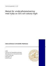 Metod för vindkraftslokalisering med hjälp av GIS och oskarp logik