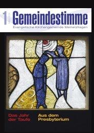 Jahr der Taufe - Evangelische Kirchengemeinde Meinerzhagen