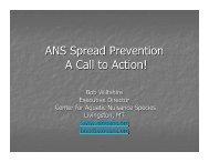 ANS Overview Presentation - Invasive Species Action Network