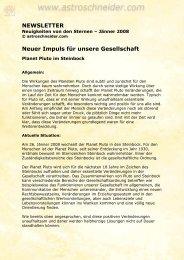 NEWSLETTER Neuer Impuls für unsere Gesellschaft - Eric Schneider