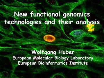 New functional genomics and their analysis - Computational ...