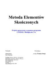 MES - projekt - tomasz strek home page