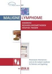 PDF der Broschüre Maligne Lymphome (1,7 MB - Kompetenznetz ...