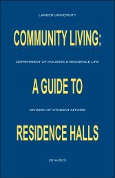 Residence Hall Guide - Lander University