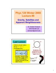 Gravity, Satellites, Apparent Weightlessness