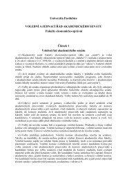 Volební a jednací řád AS - Dokumenty - Univerzita Pardubice