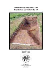 The Midden at Möðruvellir 2006 Preliminary Excavation Report - Nabo