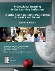NSDC Study Technical Report 2009 - Becker Public Schools