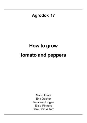 How to grow tomato and peppers - Anancy