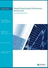 Preqin Private Equity Performance Benchmarks, Q3 2012
