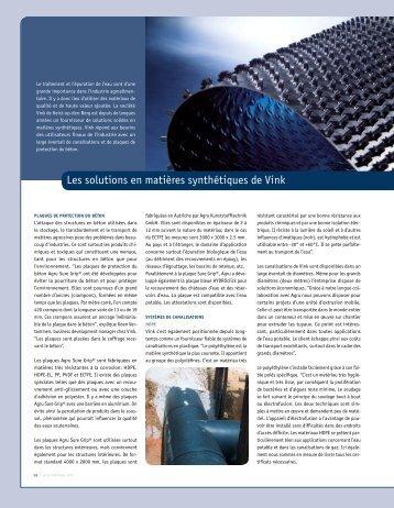 Les solutions en matières synthétiques de Vink - Aquarama