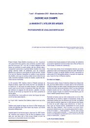 7 avril – 30 septembre 2012 - Les Amis de la Musique Française