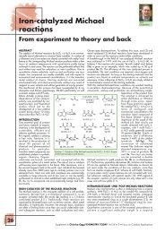 Iron-catalyzed Michael reactions From experiment to theory and back