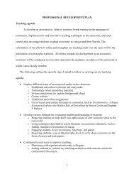 1 PROFESSIONAL DEVELOPMENT PLAN Teaching Agenda To ...