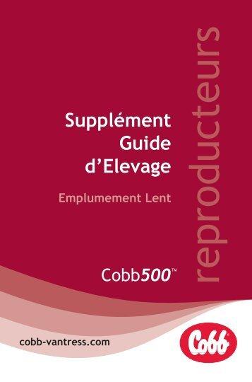 Supplément Guide d'Elevage Emplumement Lent - Cobb-Vantress