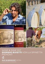 wine & dine mit giorgio rivetti von la spinetta piemont - Balance Hotels