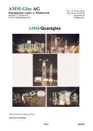 Kapitel 8 Quarzglas - AMSI Glas AG, Glasapparate, Labor