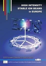 HIGH INTENSITY STABLE ION BEAMS in EUROPE ... - NuPECC