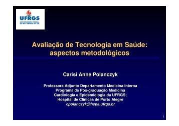 Avaliação de Tecnologia em Saúde: aspectos ... - Epi2008