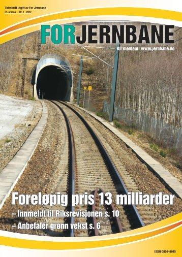 Foreløpig pris 13 milliarder - For Jernbane