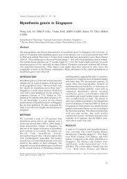 Myasthenia gravis in Singapore - Neurology Asia