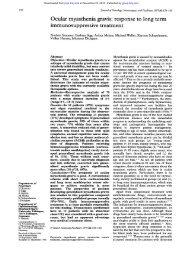 Ocular myasthenia gravis - Journal of Neurology, Neurosurgery ...