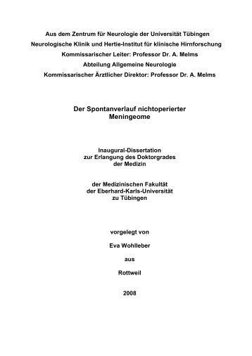 Doktorarbeit oktober 2008 fertig - TOBIAS-lib - Universität Tübingen