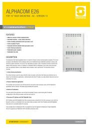 AlpHAcom E26 - Zenitel