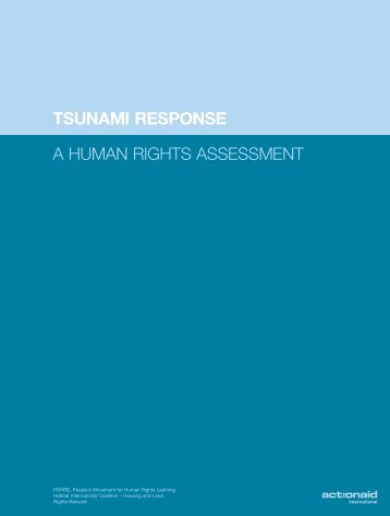 Tsunami Response, a Human Rights Assessment - Global Action on ...