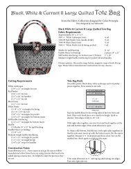 Black, White & Currant II Large Quilted Tote Bag - Henry Glass & Co