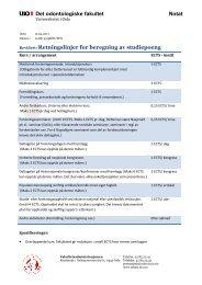 Retningslinjer for beregning av studiepoeng - Det odontologiske ...