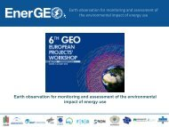 EnerGEO - Group on Earth Observations