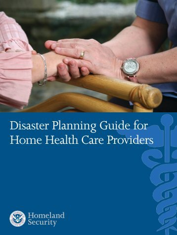 Disaster Planning Guide for Home Health Care Providers