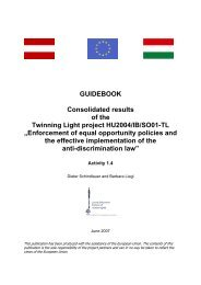 GUIDEBOOK Consolidated results of the Twinning Light project ...