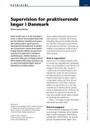 Supervision for praktiserende læger i Danmark