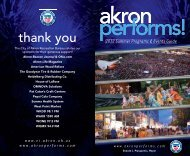 the akron summer arts experience - Akron Performs!