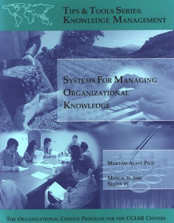 Systems for Managing Organizational Knowledge - Training ...