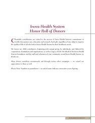 In Memory of - Inova Health System